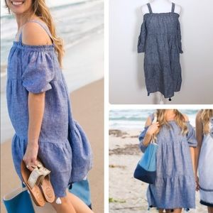 Vineyard Vines Linen Dress -M Chambray linen